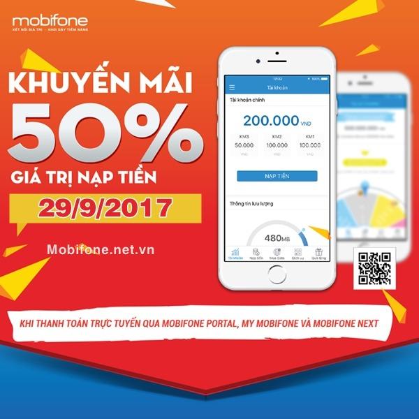 Mobifone khuyến mãi 29/9/2017 với 2 chương trình ưu đãi