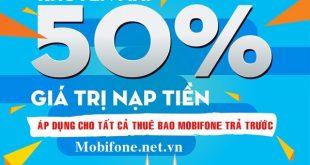 Mobifone khuyến mãi 5/9/2017 ưu đãi ngày vàng