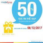 Mobifone khuyến mãi 8/12/2017 với 2 chương trình ưu đãi
