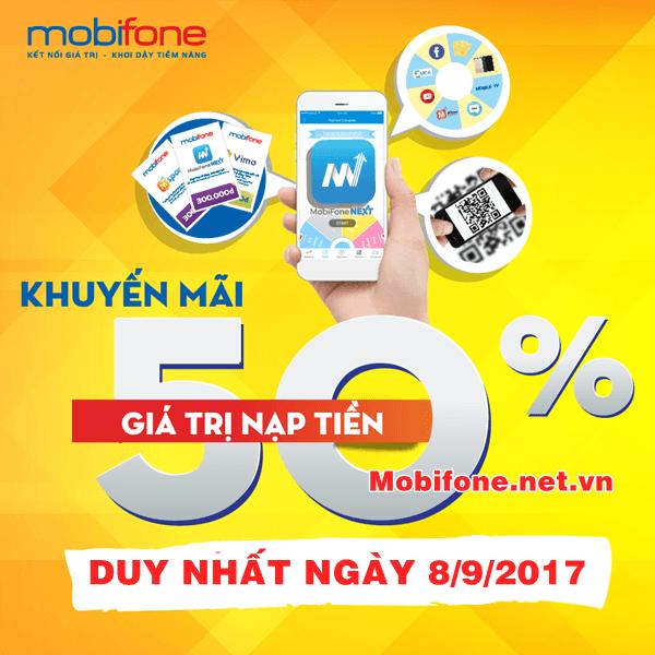 Mobifone khuyến mãi 8/9/2017 với 2 chuong trình khuyến mãi