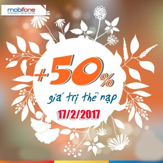 Khuyến mãi Mobifone cục bộ ngày 17/2/2017