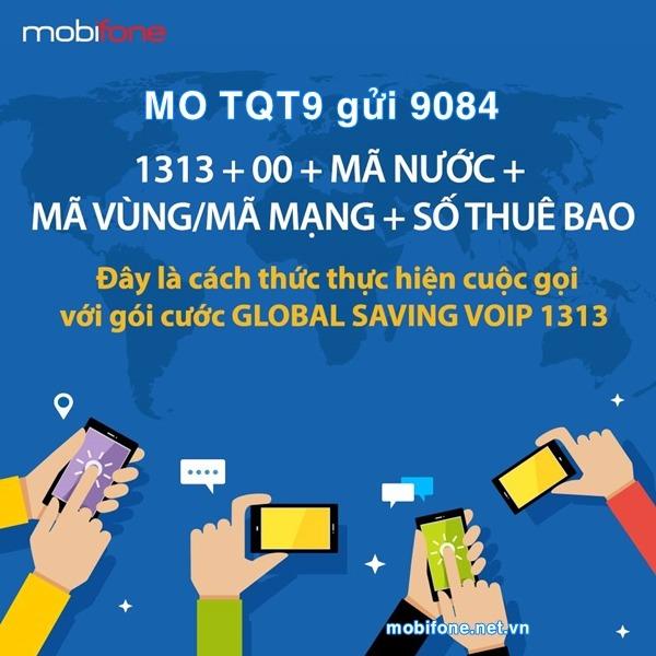 Đăng ký gói cước TQT9 Mobifone gọi thoại quốc tế giá rẻ