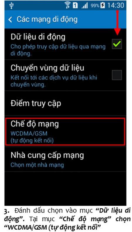 Bật tắt dịch vụ 3g mobifone