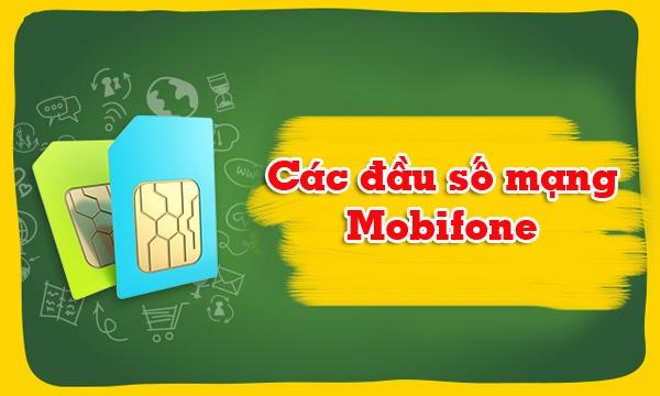 Danh sách các đầu số mạng Mobifone