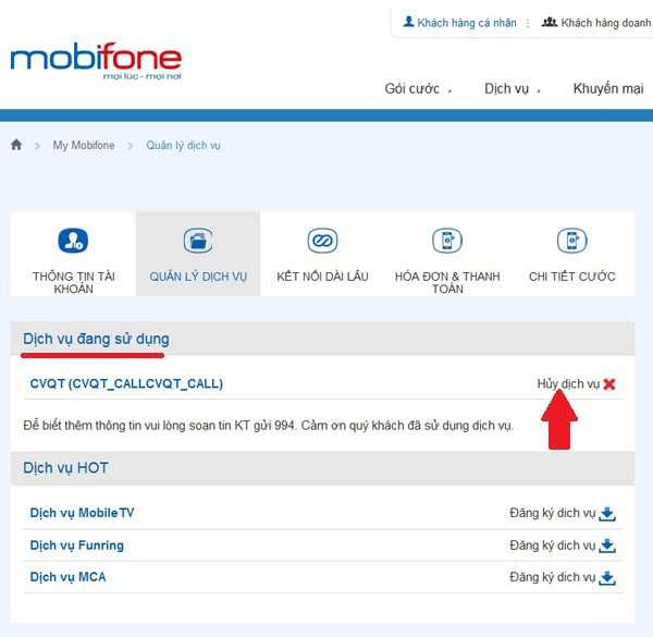 Cách kiểm tra dịch vụ Mobifone đang sử dụng