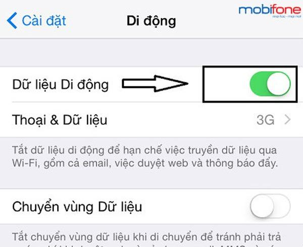 Cài đặt 3g cho iphone
