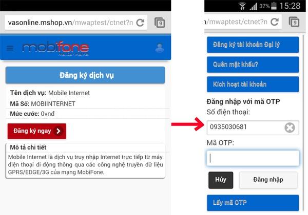 Đăng ký 3G Mobifone cho Tablet, Ipad