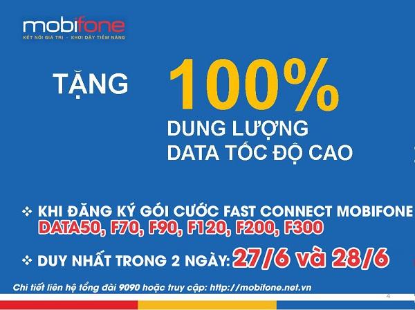 đăng ký 3G Mobifone nhân đôi Data