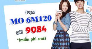 Đăng ký gói cước 6M120 Mobifone