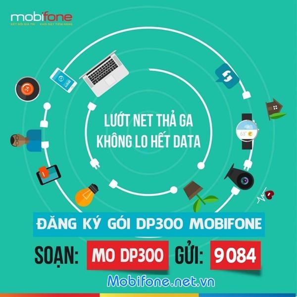 Đăng ký gói cước DP300 Mobifone ưu đãi 3 trong 1 chỉ 300.000đ