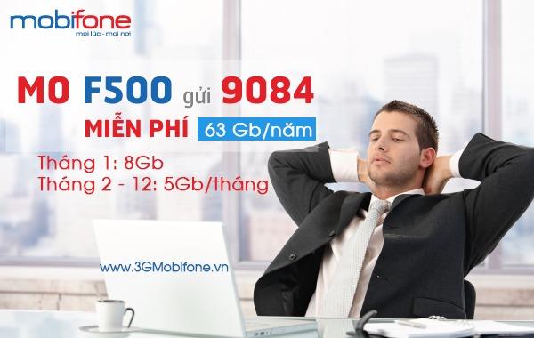 Đăng ký gói cước F500 Mobifone Fast Connect trọn gói 12 tháng