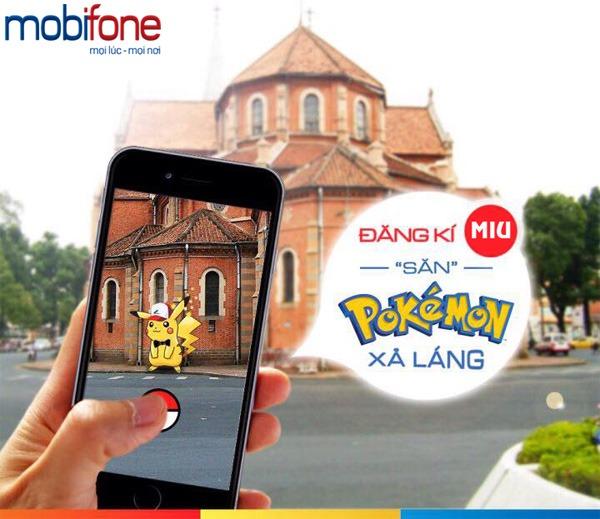 Đăng ký gói cước MIU Mobifone săn Pokemon