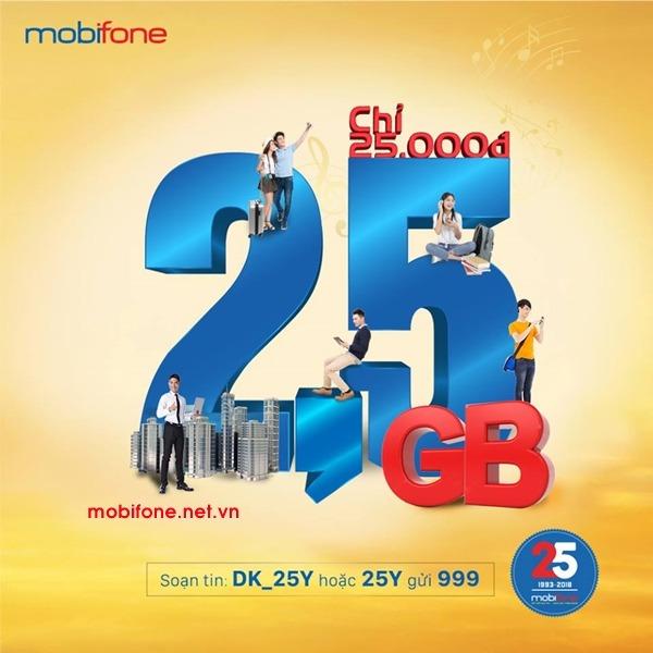 Đăng ký gói cước 25Y Mobifone chỉ 25.000đ/tháng