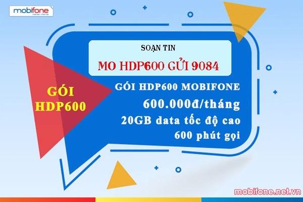 Đăng ký gói cước HDP600 Mobifone gói data plus 4G Mobifone