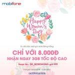 Đăng ký gói cước BÔNG HỒNG Mobifone chỉ 8.000đ/ngày