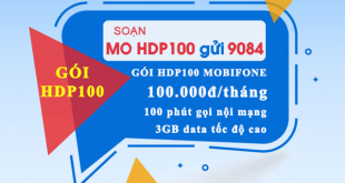 Gói cước data plus 4G Mobifone HDP100 Mobifone