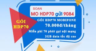 Gói cước HDP70 Mobifone chỉ 70.000đ