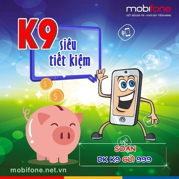 Đăng ký gói cước K9 Mobifone ưu đãi 90 phút gọi nội mạng