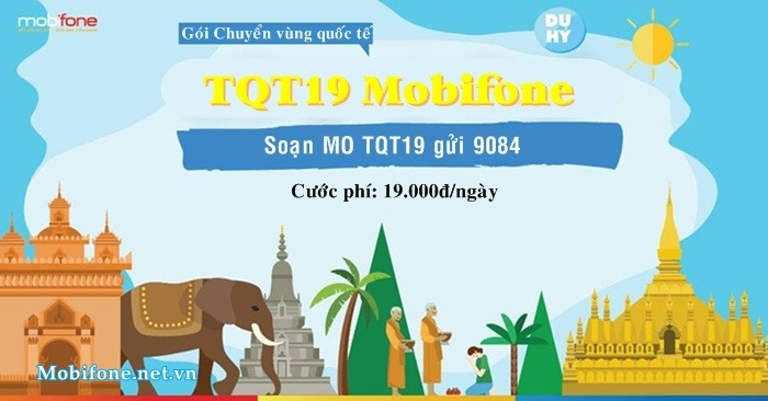 Đăng ký gói cước TQT19 Mobifone miễn phí 10 phút gọi quốc tế