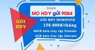 Đăng ký gói cước HDY Mobifone chỉ 1550.000đ/tháng