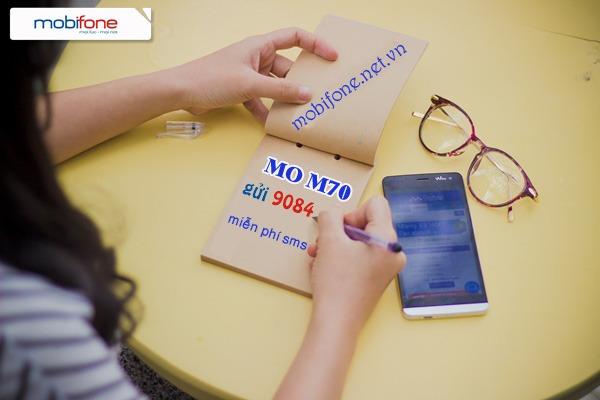 Đăng ký gói cước M70 Mobifone