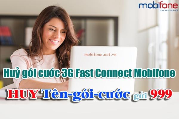 Cách huỷ các gói cước 3G Fast Connect Mobifone