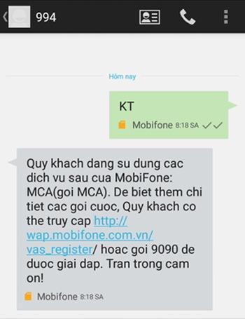 kiểm tra khắc phục tài khoản Mobifone bị trừ tiền vô lý