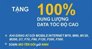 Mobifone tặng 100% Data khi đăng ký 3G