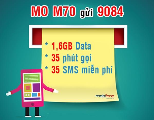 Đăng ký gói M70 Mobifone ưu đãi 3 trong 1