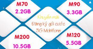 Cộng thêm Data khi đăng ký gói cước 3G Mobifone Mobile Internet