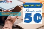 Khuyến mãi Mobifone tặng 50% thẻ nạp