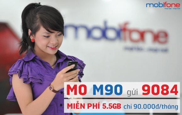 Đăng ký gói cước M90 Mobifone chỉ 90.000đ/tháng