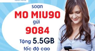 Đăng ký gói cước MIU90 Mobifone chỉ 90.000đ/tháng