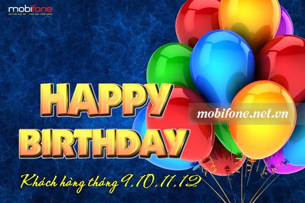 Quà tặng sinh nhật của Mobifone tháng 9, 10, 11, 12