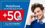 Nạp thẻ Mobifone khuyến mãi 50%