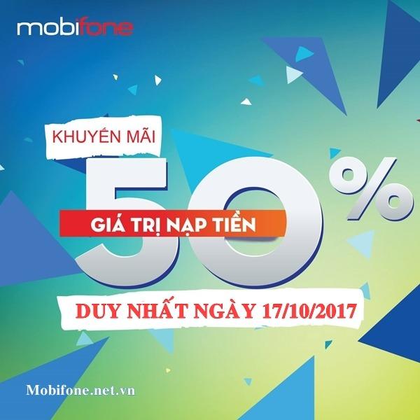 Mobifone khuyến mãi 17/10/2017 ưu đãi cục bộ