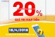 Mobifone khuyến mãi 18/4/2018 ưu đãi ngày vàng trên toàn quốc