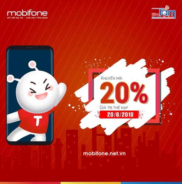 Mobifone khuyến mãi 20/6/2018 ưu đãi ngày vàng