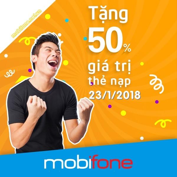 Mobifone khuyến mãi 23/1/2018 áp dụng cho khu vực 4, 8, 9