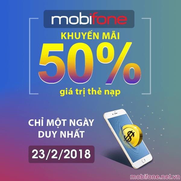 Mobifone khuyến mãi 23/2/2018 với 3 chương trình ưu đãi