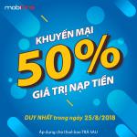 Mobifone khuyến mãi 25/8/2018