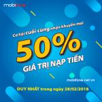Mobifone khuyến mãi 28/2/2018 ưu đãi NGÀY VÀNG