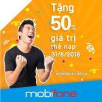 Mobifone khuyến mãi 31/8/2018 ưu đãi ngày vàng