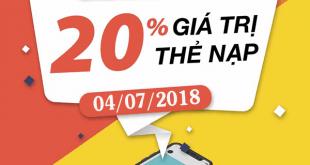 Mobifone khuyến mãi 4/7/2018 ưu đãi ngày vàng