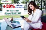 Khuyến mãi Mobifone 50% nạp thẻ trực tuyến