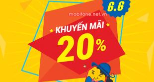 Mobifone khuyến mãi 6/6/2018 ưu đãi ngày vàng trên toàn quốc