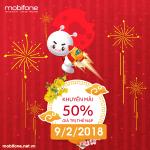 Mobifone khuyến mãi 9/2/2018 với 2 chương trình ưu đãi