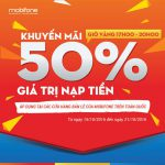 Tặng 50% thẻ nạp Mobifone từ 17h-20 các ngày 15-21/10
