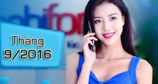 Tháng 9/2016 Mobifone khuyến mãi hoà mạng cho thuê bao trả sau