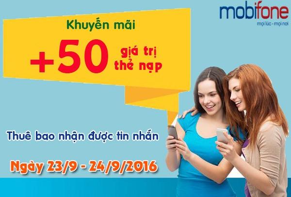 Mobifone khuyến mãi cục bộ ngày 23 và 24/9